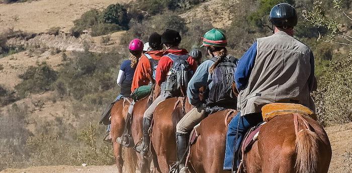 Paseo a caballo en Sierra de Zonda