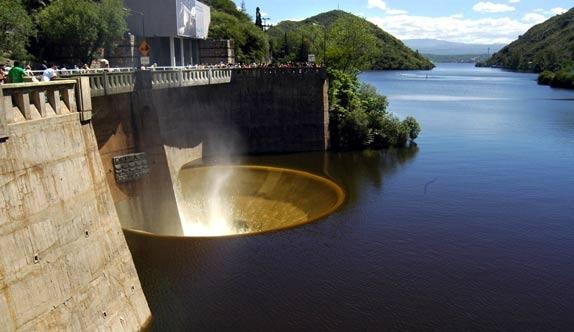 impresionante vista del Dique San Roque