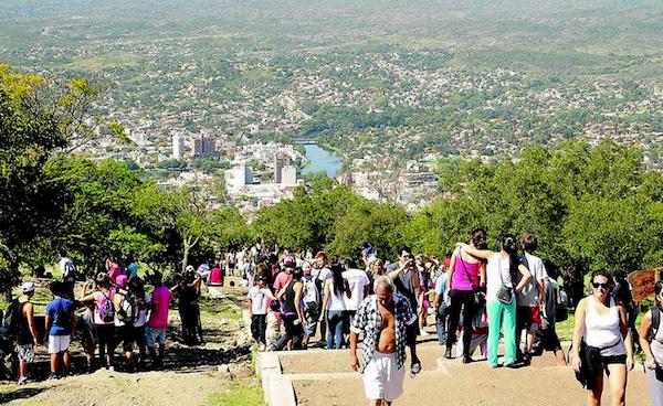 subida del cerro de Villa Carlos Paz